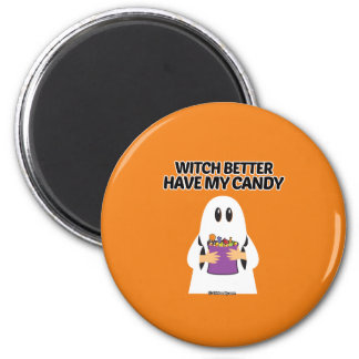 Witch better have my candy 6 cm round magnet