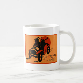 Witch Black Cat Car Full Moon Mug