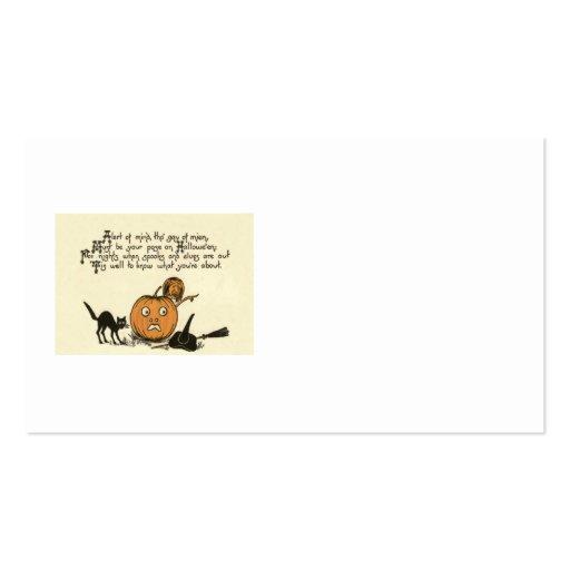 Witch Black Cat Jack O Lantern Business Cards