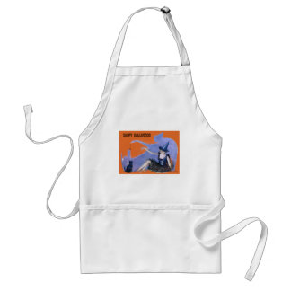 Witch Black Cat Spider Shadow Standard Apron
