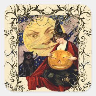 Witch & Black Cat Stickers