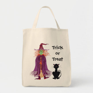 Witch & Black Cat Trick or Treat - Bag