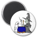 Witch Brewing Cauldron Magnets