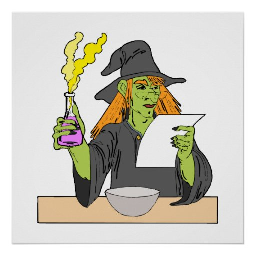 Witch brewing postion poster