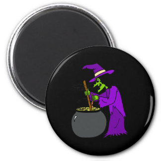 Witch brewing potion fridge magnet