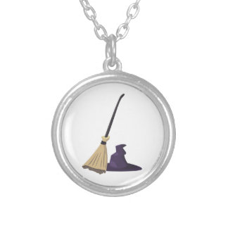 Witch Broom and Hat Pendants