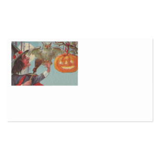Witch Broom Jack O Lantern Owl Moon Pack Of Standard Business Cards