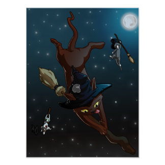 Witch Cat Apprentices Poster