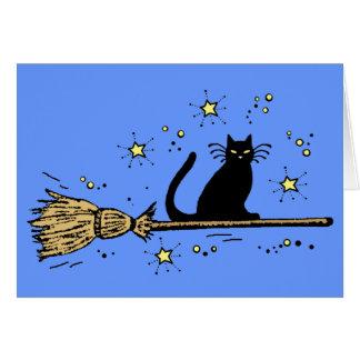witch cat card