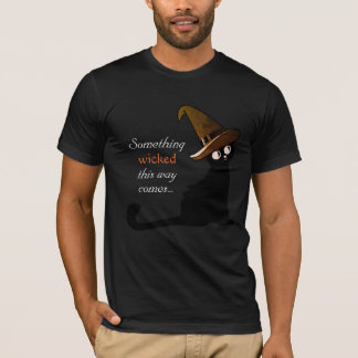 Witch Cat Something Wicked This Way Comes T-shirt