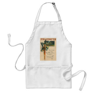 Witch Cauldron Broom Night Witchcraft Standard Apron