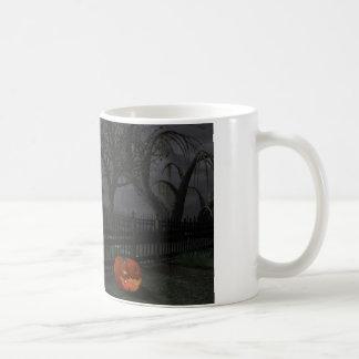 Witch Cottage with Pumpkin Lantern Mug