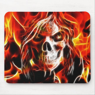 Witch Fiery Skull Mouse Mat