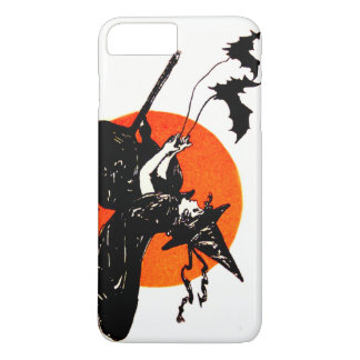 Witch Flying Broom Full Moon Bat iPhone 7 Plus Case