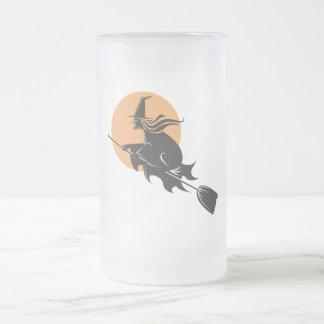 Witch Flying Halloween Coffee Mug