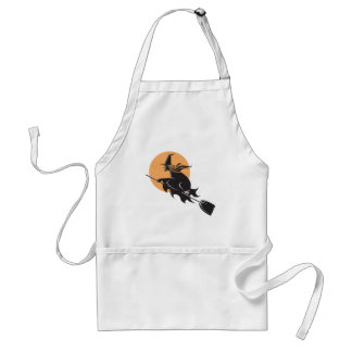 Witch Flying Halloween Standard Apron