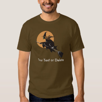 Witch Flying Halloween T-shirt