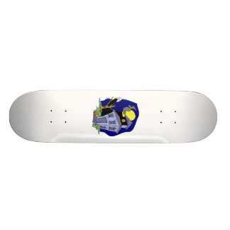 Witch Flying over house Skate Board Deck