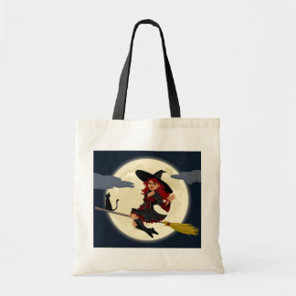 Witch Flying Tote Bag