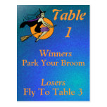 Witch Halloween Bunco Table Card Number 1 Postcards