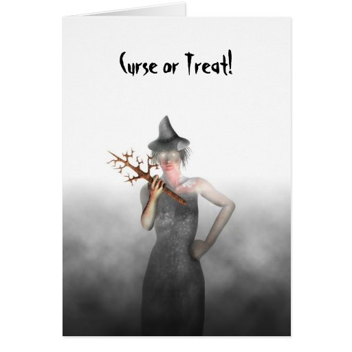 Witch - Halloween Greeting Card