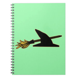 Witch Hat & Broom Notebook