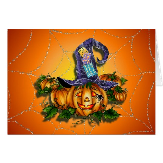 WITCH HAT, JACK & SPIDER  by SHARON SHARPE Card