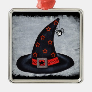 Witch Hat Stars Cute Spider Christmas Ornament