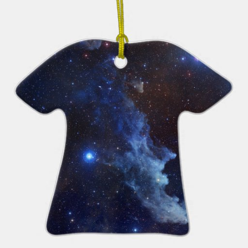 Witch Head Nebula Blue Space Christmas Ornaments