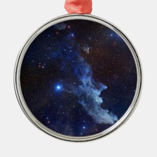 Witch Head Nebula Blue Space Ornaments