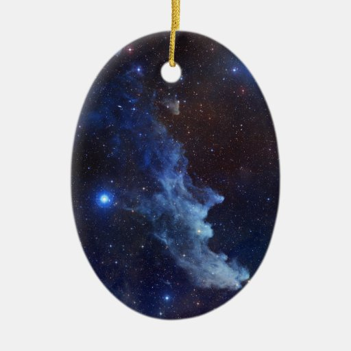 Witch Head Nebula Blue Space Christmas Ornament