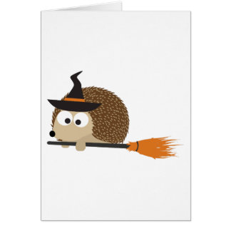 Witch Hedgehog. Happy Halloween! Stationery Note Card