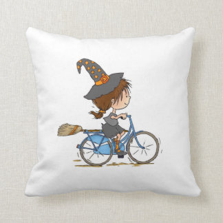 Witch in bike pillow