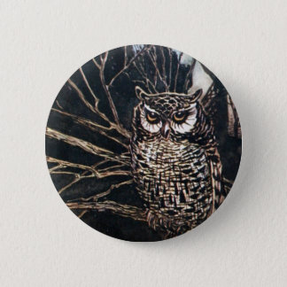 Witch in Owl Form 6 Cm Round Badge