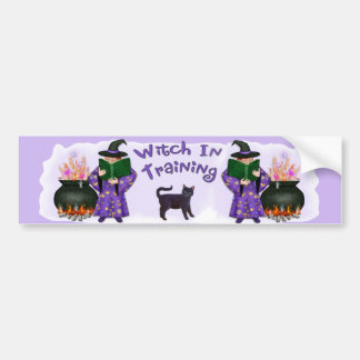 Witch in Training Bumper Sticker