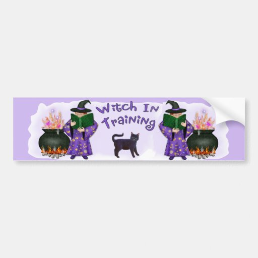 Witch in Training Bumper Stickers