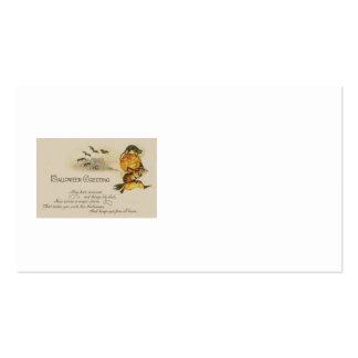 Witch Jack O' Lantern Black Cat Bat Pack Of Standard Business Cards