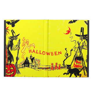 Witch Jack O' Lantern Owl Ghost Haunted House Cover For iPad Air