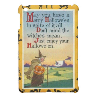 Witch Jack O' Lantern Pumpkin Black Cat Case For The iPad Mini