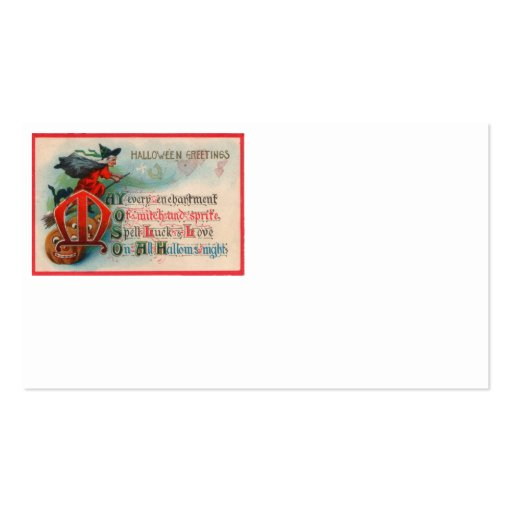 Witch Jack O Lantern Pumpkin Business Card