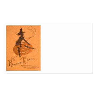 Witch Jack O Lantern Pumpkin Double-Sided Standard Business Cards (Pack Of 100)