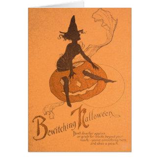 Witch Jack O Lantern Pumpkin Card
