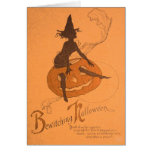 Witch Jack O Lantern Pumpkin Greeting Cards