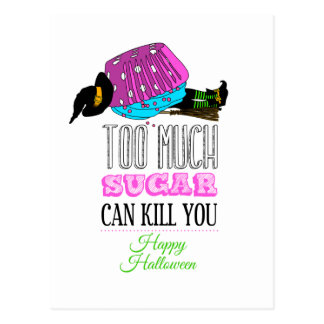Witch killed by to cupcake - Too much to sugar dog Postcards