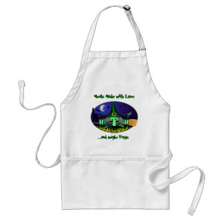 Witch Kilroy Frogs Apron