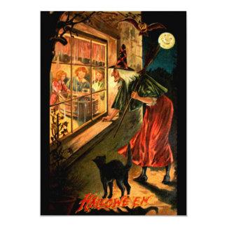 Witch Looking Through Window 13 Cm X 18 Cm Invitation Card