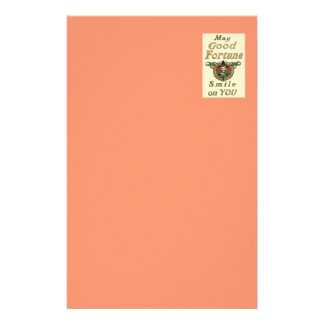 Witch May Good Fortune Smile On You Tribal Personalised Stationery