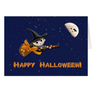 Witch Moon Halloween Card