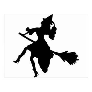 Witch on a Brromstick Postcard
