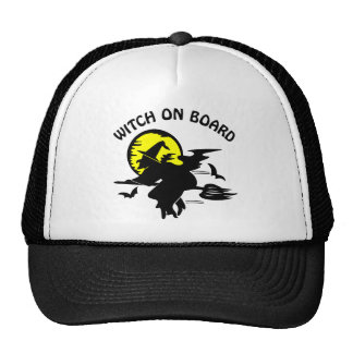 Witch On Board Mesh Hat